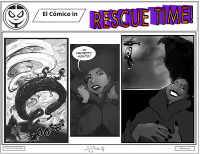 Prime Vice Studios sequential art  El Comico  cartoon strip intellectual property black owned business